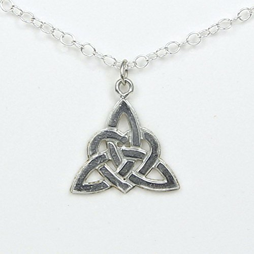 Gaelic Jewelry - Celtic Love Knot Large Necklace - Symbol of Never Ending Love and Friendship- Handcrafted Pewter Made in USA