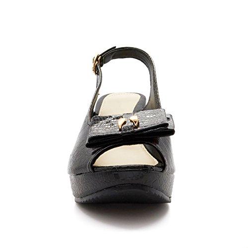 Femme Noir toe Peep Footwear London wqOUYvq