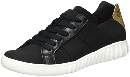 Tamaris Basses black Sneakers Noir 041 taupe 23623 Femme r7q8wra