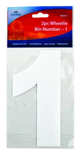 Pack Of 2 Wheelie Bin Numbers - 1 ()