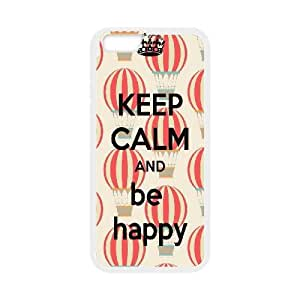 IPhone 6 Plus Case KEEP CALM Quote, Keep Calm and be Happy, Girly Protective Keep Calm Quote Zachcolo, {White}