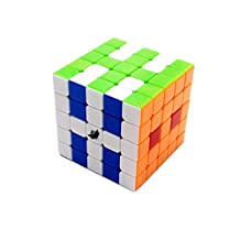 Cycone Boys Magic cube speed 5X5 puzzle stickerless,6-color Brain Teasers Toys