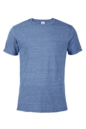 Casual Garb Men's Snow Heather Fitted T Shirt Short Sleeve Crew Neck T-Shirts for Men Royal Medium