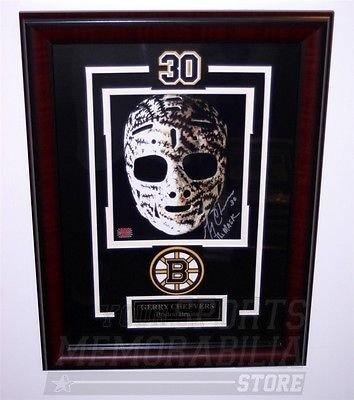 Gerry Cheevers Boston Bruins signed autographed framed Mask 8x10 ()