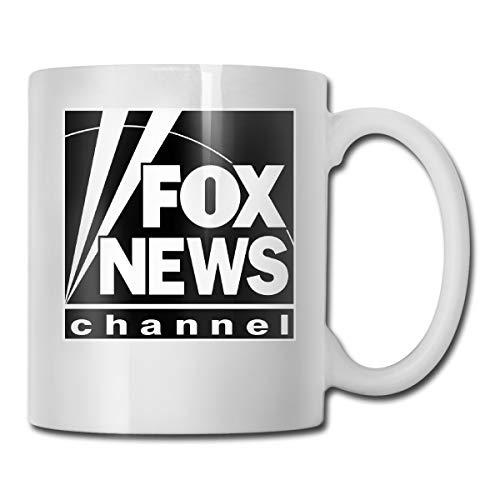 Fox News Channel Logo Black Coffee Mug Novelty Gift For Him/Her, 11-oz White Mug
