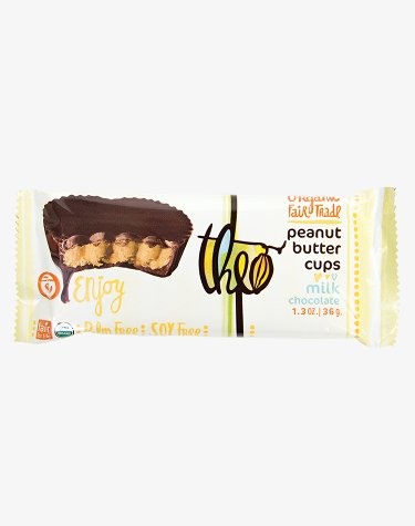 Theo Organic Fair Trade Milk Chocolate Peanut Butter Cups, Gluten Free, Kosher, 2 Pieces (Pack of (Fair Trade Nut)