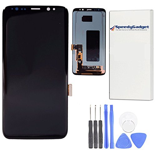 For Samsung Galaxy S8 LCD Digitizer Screen Touch Assembly Replacement LCD Display Midnight Black 5.8 inch by SpeedyGadget by speedygadget
