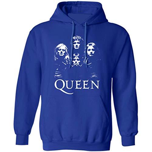 Queen Band Shirt Hoodie, Bohemian Rhapsody British Rock Band Hoodie (XL,Royal)