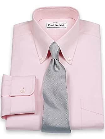 Paul fredrick men 39 s slim fit pinpoint button down collar for Pinpoint button down dress shirt