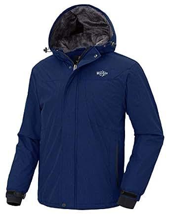 Amazon.com: Wantdo Men's Hooded Waterproof Fleece Ski