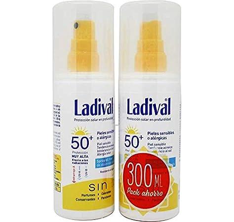 Ladival spray oil free SPF50 150 ml (2 unidades) Especial para: pieles sensibles o alérgica, Pieles acnéicas, Intolerancia al sol, alergia solar.: Amazon.es: Belleza