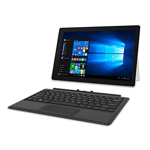 RCA 12.2 Inch 2-in-1 Notebook Tablet with 64GB Storage, Intel Celeron N4000 Processor, 1920x1200 IPS Touchscreen Windows 10, Includes Keyboard (Renewed)