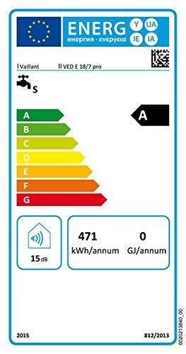 Vaillant VED-E//7 18 21 24 27 kW elektronischer Elektro Durchlauferhitzer