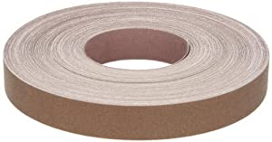 "Norton K225 Metalite Abrasive Roll, Cloth Backing, Aluminum Oxide, 1"" Width x 50yd Length, Grit P180 (Pack of 5)"