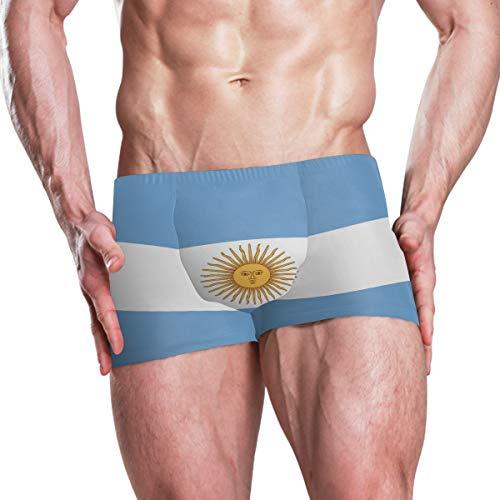 super3Dprinted Argentina Flag Men's Swim Trunks Swimming Briefs Beach Shorts Boxer - Necktie Boxer