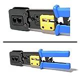 DSC-6082R, EZ RJ Professional Heavy Duty Crimp Tool, EZ RJ45 Pro Ethernet Crimp Cutter for RJ-45 RJ12 RJ11 Connector, HD Crimping Tool with Wire Cutter