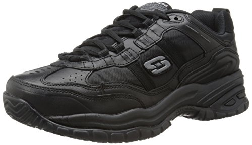 (Skechers for Work Men's Soft Stride Mavin Athletic Oxford, Black, 14 M US)