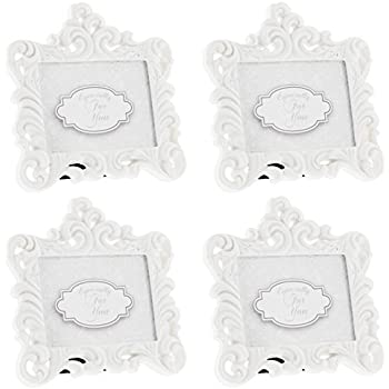 6db2bab5a34 Fashioncraft Set of 4 Baroque Style White Resin Frames - Holds 2.75