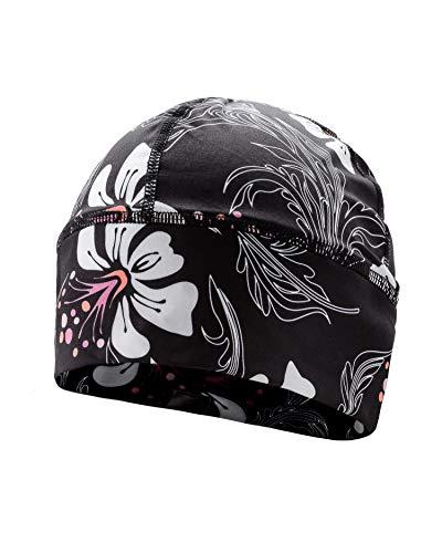 SLS3 Thin Womens Winter Running Hat | Running Hat Women | Women Cold Weather Cap | Winter Running Hat, Women Running Beanie | Womens Running Gear German Designed (Hibiscus)