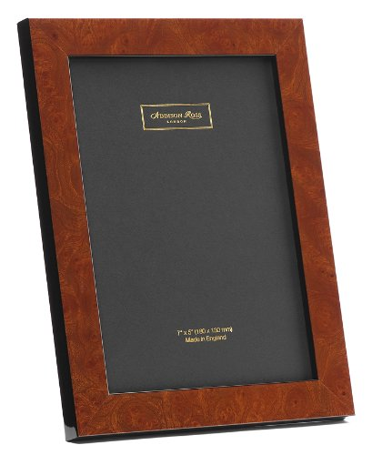 Addison Ross, Poplar Wood Veneer Photo Frame, 5x7, Dark Brown Poplar Fiber Back, 5 x 7 Inches