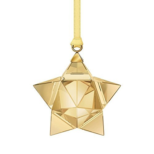 Swarovski Gold Ribbon - Swarovski Star Ornament, Gold Tone, Small