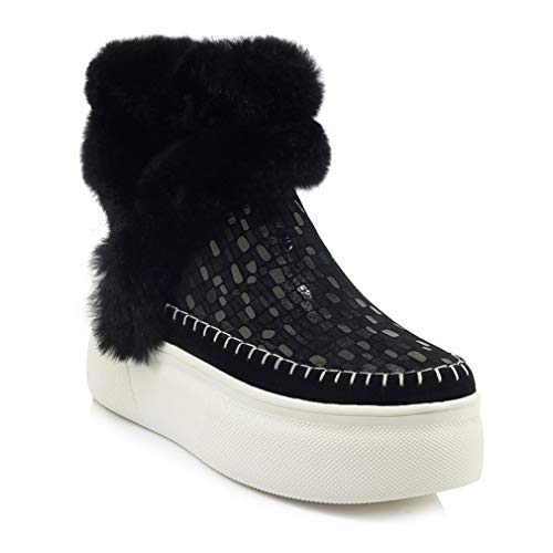 Plataforma Cuña Invierno Zapatos Con Al Cómodos Caminar Botines Libre Aire Cuero Segundo De Para Nieve Botas Yan Mocasines Mujer z0qxCX