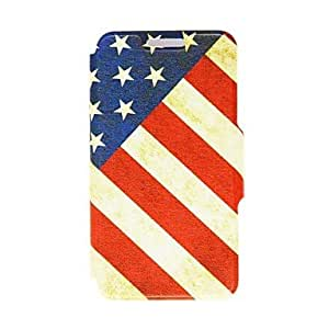 YXF Kinston Nostalgic USA Pattern PU Leather Full Body Case with Stand for Samsung Galaxy S4 I9500