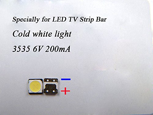 100Pcs 3535 SMD Lamp Beads 6V Specially for LED TV Backlight Strip BarRepair TV