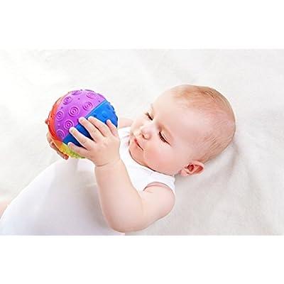 Pure Natural Rubber Sensory Ball Rainbow 4