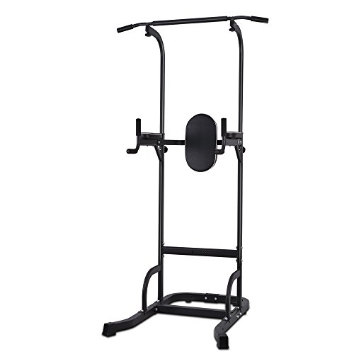OneTwoFit Multi-Function Power Tower Adjustable Height Home Fitness Workout Dip Station Pull up Bar Push Up by OneTwoFit