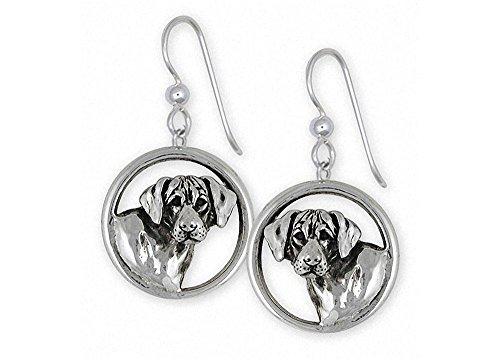 Rhodesian Ridgeback Earrings Jewelry Sterling Silver Handmade Dog Earrings RDG3-E