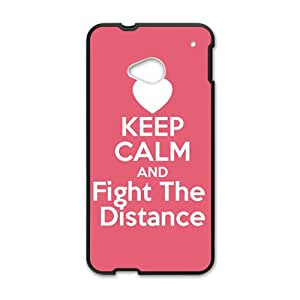 Keep Calm And Fight The Distance Black htc m7 case