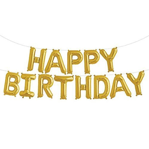 Happy Birthday Letter Foil Mylar Balloon, 16