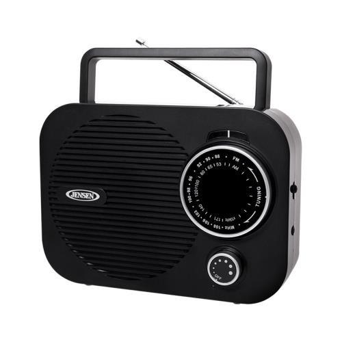 Jensen Mr550bk Black Portable Am Fm Radio W/ Auxillary In...