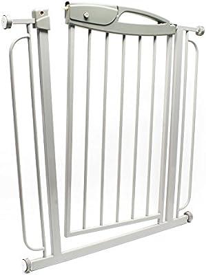 Barrera de seguridad para puerta – escaleras, de Metal, extensible de 73-100 cm, Barrera de seguridad para niños: Amazon.es: Jardín