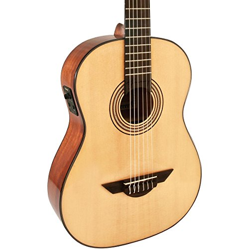 - H. Jimenez LG3E El Maestro Nylon String Acoustic-Electric Guitar with Spruce Top and Padded Gig Bag - Natural