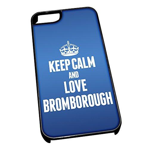 Nero cover per iPhone 5/5S, blu 0106Keep Calm and Love Bromborough
