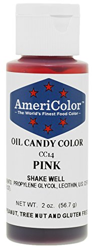 Americolor Pink 2 oz. Cake Decorating Candy Making Candy Color Oil