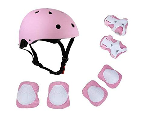 - Sevenpring Party Decor Supplies 7 Pieces Helmet Protective Gear Set Safety Pads Set for Roller Scooter Skateboard Bicycle(3-8Years Old) ( Color : Pink )