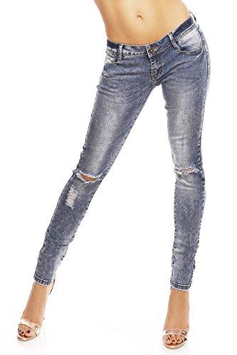 Donna Style Basic Skinny Diker Pantaloni Jeans BIFwWqd