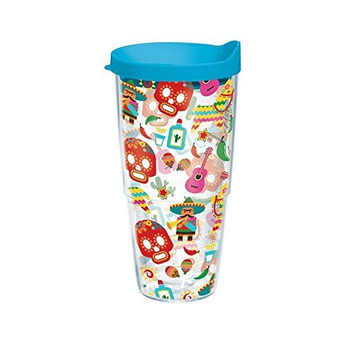 Pattern Wrap with Lid 24oz Tumbler 1218712 (Fiesta Pattern)