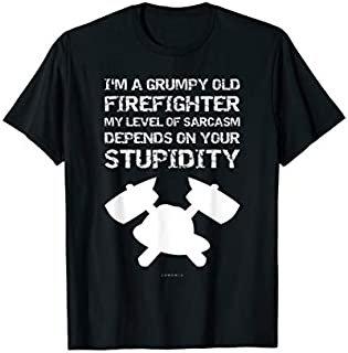 Im A Grumpy Old Firefighter s - Funny Firefighter Gift T-shirt | Size S - 5XL