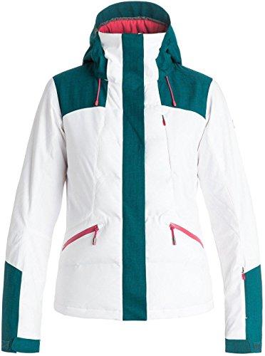 Roxy SNOW Junior's Flicker Slim Fit Snow Jacket, Bright White, M
