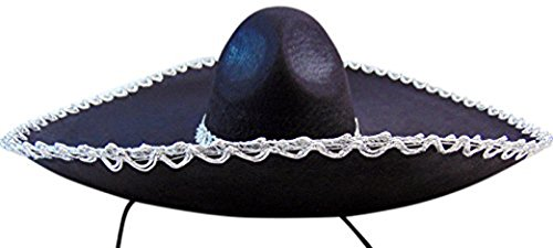 Authentic Mexican Large Felt Sombrero Classic Mariachi Style Hat for Men or Women