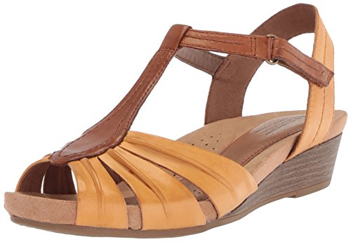 discount buy marketable online Cobb Hill Women's Hollywood Pleat T Sandal Amber Yellow 8GuyF