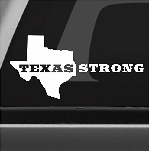Texas strong houston vinyl decal bumper sticker hurricane harvey lone star tx
