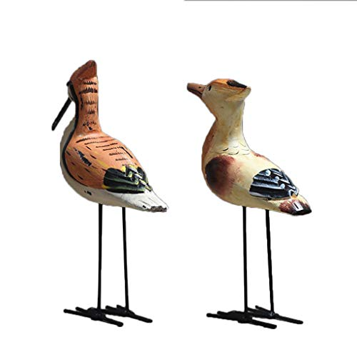 - Flameer Nordic Wooden Bird Animal Figure Statue Crafts Kids Toys Home Table Ornament Photography Prop