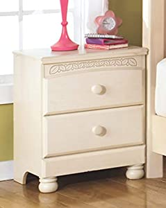 picture of Ashley Furniture Signature Design - Cottage Retreat Nightstand - 2 Drawers - Casual Kids Room - Cream Cottage