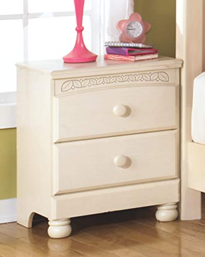 Youth Bedroom Furniture Collection (Ashley Furniture Signature Design - Cottage Retreat Nightstand - 2 Drawers - Casual Kids Room - Cream Cottage)