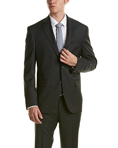 Victor-International-Mens-Orwell-Wool-Suit-With-Flat-Pant-38Sx31w-Grey
